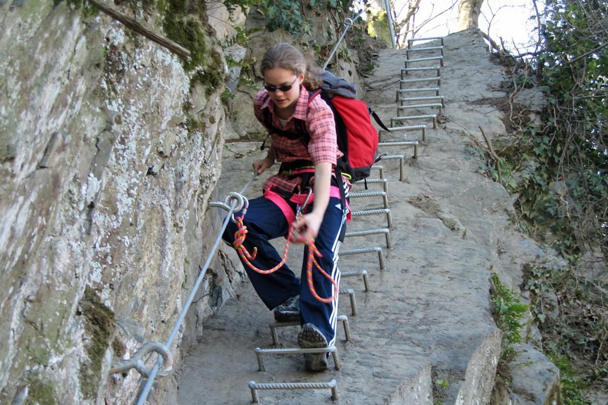 Klettersteig Mittelrhein : Mittelrhein klettersteig